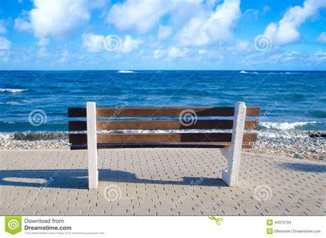 bench beach beach bench stock photo image 44375794