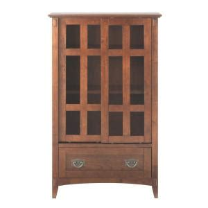 Glass Cabinet Doors Home Depot Home Decorators Collection 31 In W Artisan Multimedia Cabinet In Oak With Glass Doors