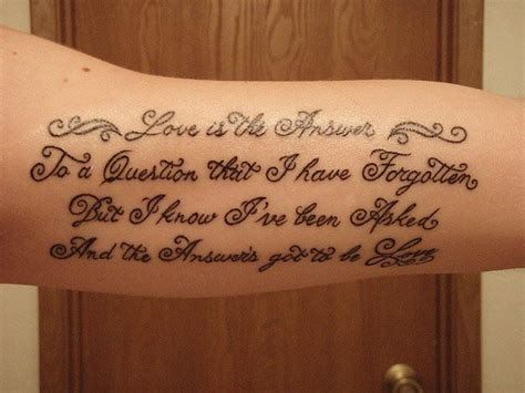 Tattoo Lettering Ideas Quotes