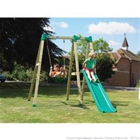 single swing and slide set outdoor toys tp forest multiplay swing and slide t