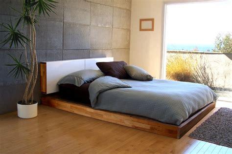 sehr niedriges bett moderne schlafzimmer ideen stilvoll mit designer flair