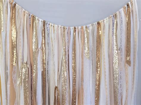 Japanese Wedding Backdrop by Shades Of Gold Sequin Lace Ribbon Sparkle Wedding Backdrop