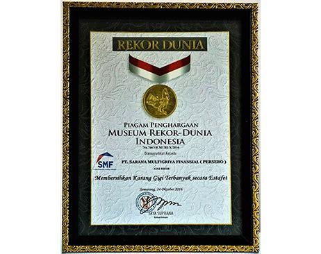 Untuk Pembersihan Karang Gigi awards pt sarana multigriya finansial persero