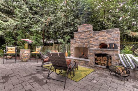 Garten Mit Steinen Gestalten 2882 by Outdoor Fireplace With Pizza Oven Traditional Portland