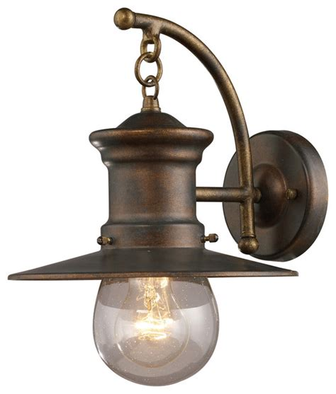 Traditional Outdoor Lighting Elk Lighting 42006 1 Maritime Outdoor Wall Light Traditional Outdoor Wall Lights And Sconces