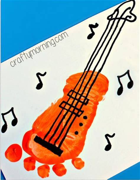 Paper Guitar Craft - cards for and crafts for on