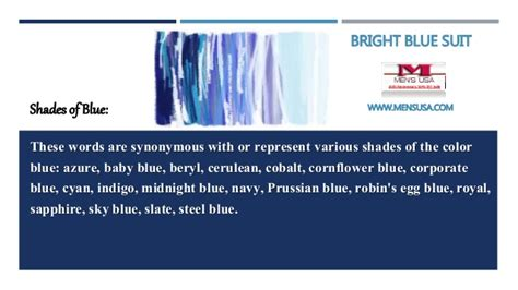 blue color meaning meanings of blue color bright blue suit