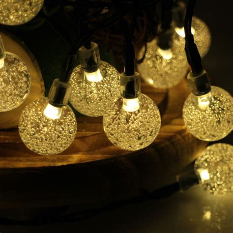 30led 6m Waterproof Decorative Crystal Ball Led String Decorative String Lights For Patio