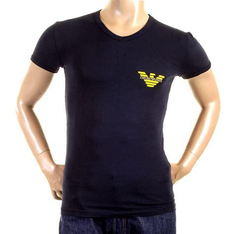 t shirts emporio armani t shirts navy v neck t shirt 111221 1w515