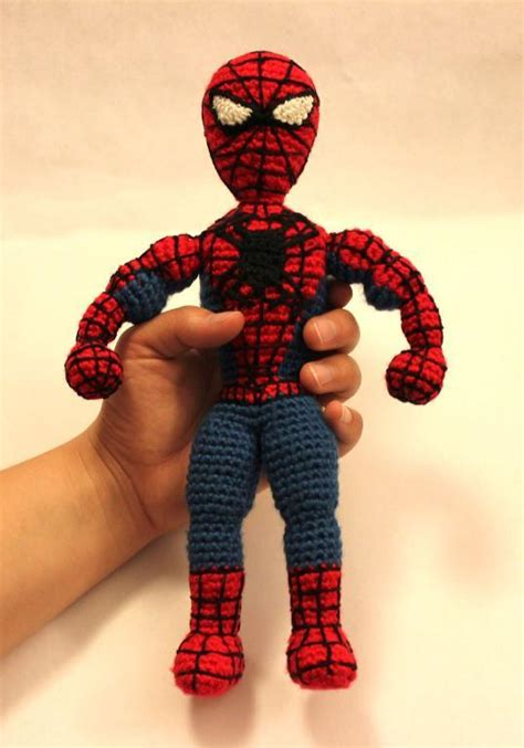 pattern for crochet spiderman doll spiderman superhero amigurumi crochet by sahrit craftsy