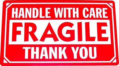 01 Fragile Sticker Label Stiker 500 2x3 fragile handle with care shipping label sticker ebay