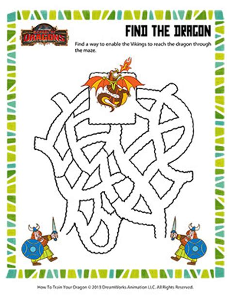 printable dragon mazes find the dragon printable maze worksheet school of dragons