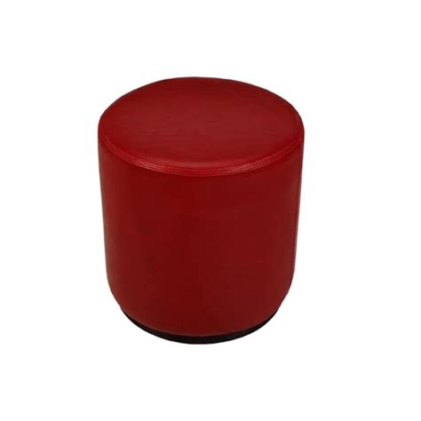 Sol Ottoman Dark Red Formdecor