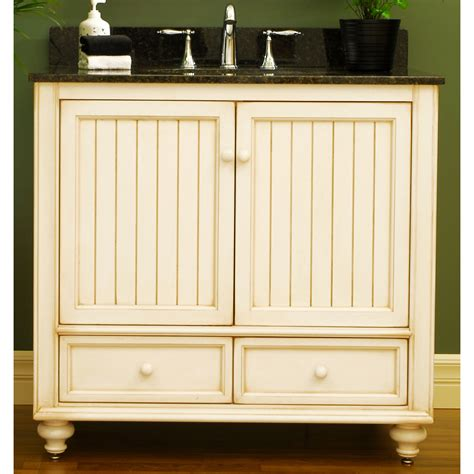 Vanity Furniture For Bathroom Cottage Cabinets Cottage Style 36 Quot Wood Bathroom Vanity Cabinet From The Bristol