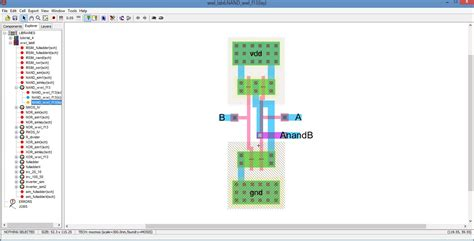 layout for nand gate 3 input nand layout pictures to pin on pinterest pinsdaddy