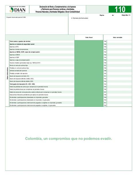 descargar formulario ingreso y retenciones 220 del ao 2015 formulario 110 renta ao gravable 2015 declaracion de renta