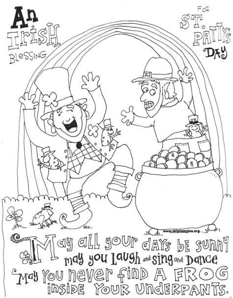 Cute St Patrick's Day Coloring Pages | Skip To My Lou