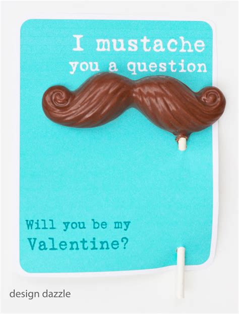 mustache valentines adorable s day printables design dazzle