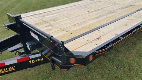 ton equipment trailer johnson trailer