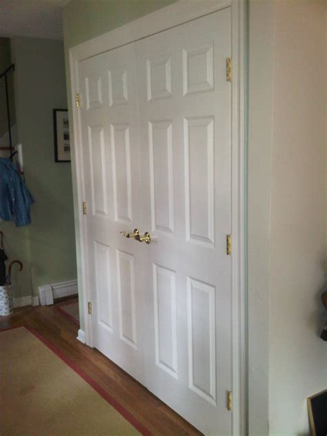New Closet Doors New Closet Doors Hinged Or Better Sliding Hardware Will Avoid Problems Connolly Construction