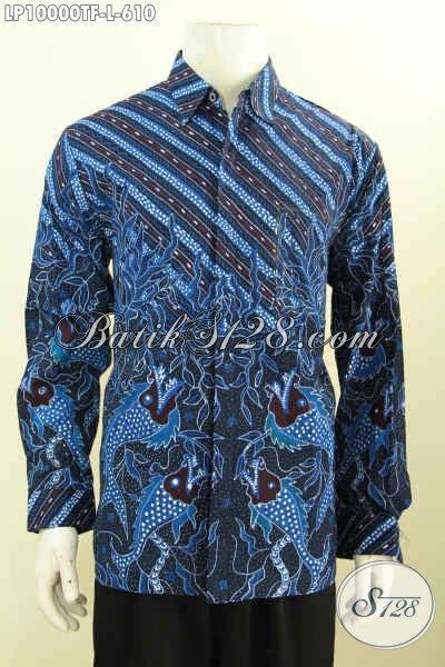 Rok Panjang Motif Batik Biru baju batik warna biru motif klasik hem batik premium
