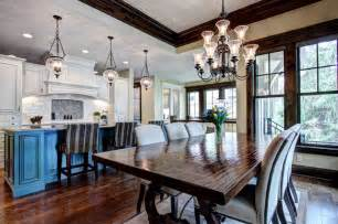 Open Kitchen Dining And Living Room Floor Plans Open Floor Plan Kitchen And Dining Room Traditional