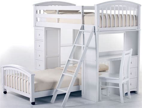 student loft bed with desk school house white student loft bed with lower bed 7080nlltb ne