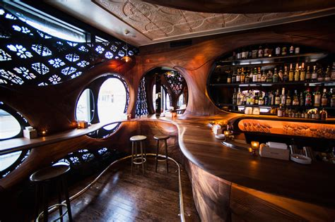 designboom bar bar raval by partisans features carved mahogany interiors