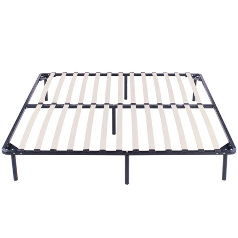 metal bed frame with wooden slats wood slats metal bed frame king size sleep wooden