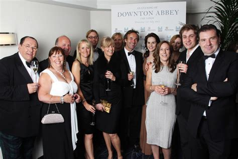 at the an evening with downton abbey event at the television academy allen leech and lesley nicol photos photos an evening
