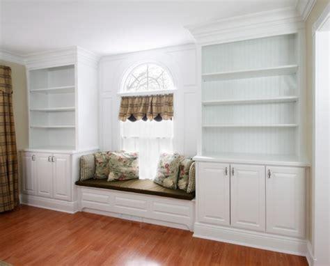 Beautiful Window Seat With Bookshelves On Cushion On The Window Bookshelves