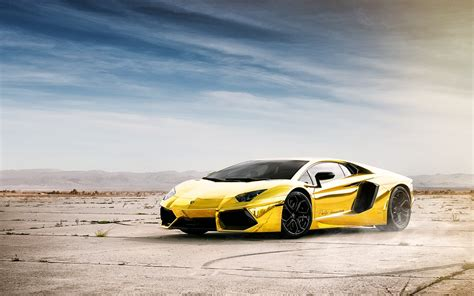 world no1 luxury car lamborghini aventador gold sportscars20