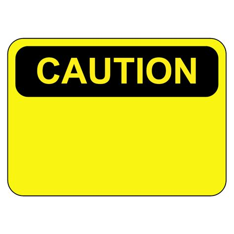 Caution Sign Caution Sign Template