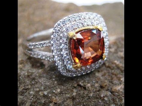 Cincin Permata Zircon 2 cincin permata zircon alami silver 925 ring 8us untuk
