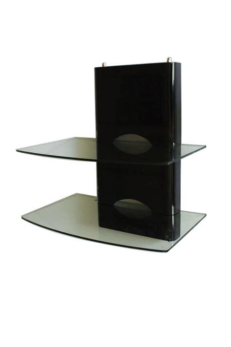 dvd mount floating glass shelves sky box shelving