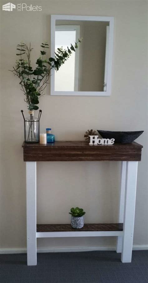 entry hallway table  pallets