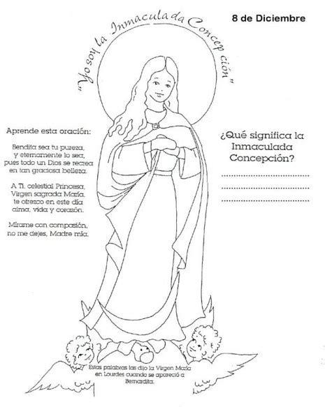 La Inmaculada Concepción de María para colorear | Colorear