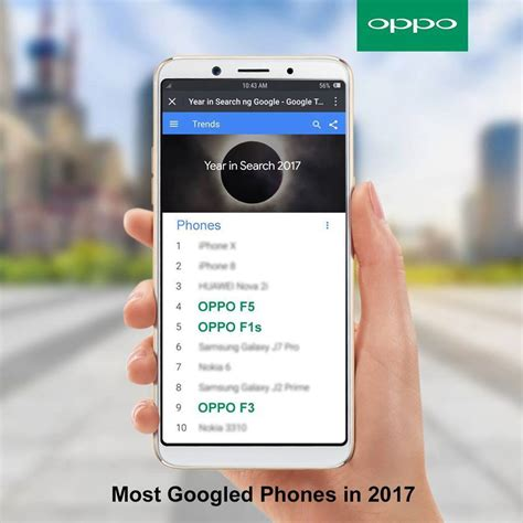 Hp Oppo Eraphone oppo f5 and f1s are among the most searched googled smartphones gadget pilipinas
