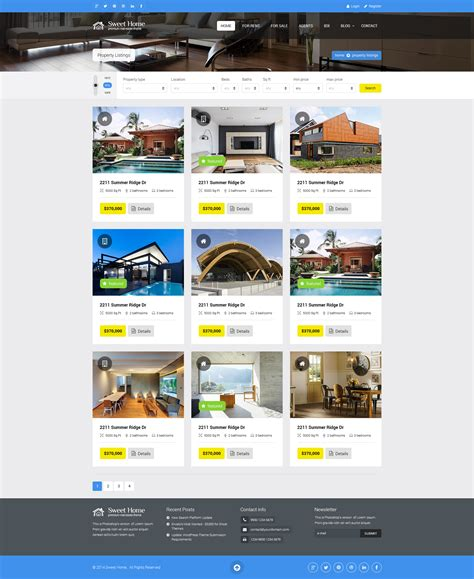 property listing template sweethome real estate html template by premiumlayers