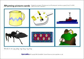 picture cards rhyming picture cards sb1305 sparklebox