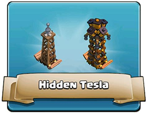 Clash Of Clans Tesla Tower Clash Of Clans Defensive Buildings Clash Wiki