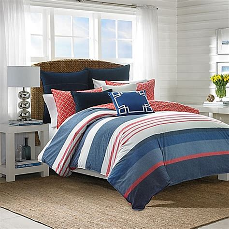 navy and coral comforter nautica 174 hawes comforter set in navy coral bed bath beyond
