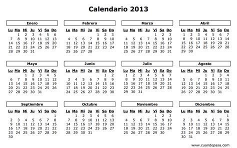 Calendario S Calendario 2013
