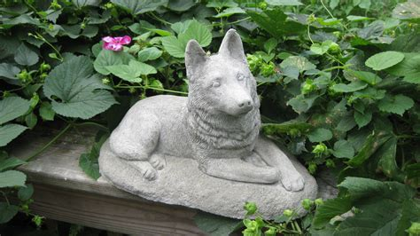 concrete statues german shepherd cast concrete statue by