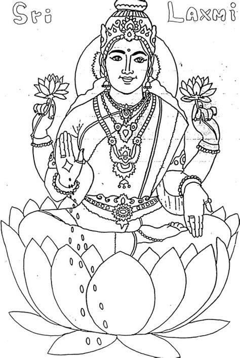 goddess lakshmi colouring pages