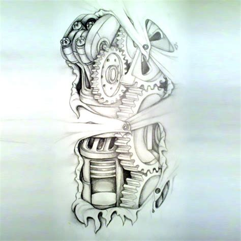 biomechanical tattoo designs free designs cool amazing biomechanical sketch