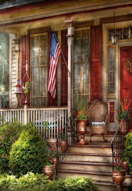 Front Porches With Railings by Country Front Porch Amp Old Glory Porches Pinterest