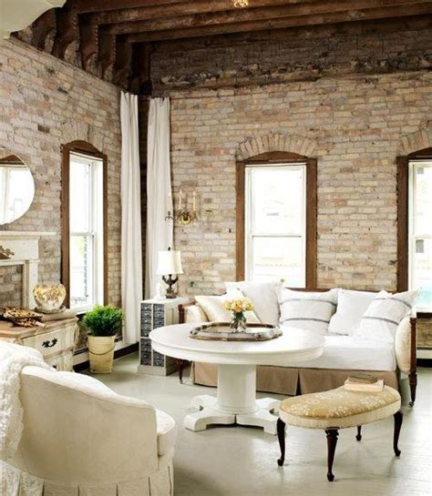 living room brick living room with exposed brick walls style at home