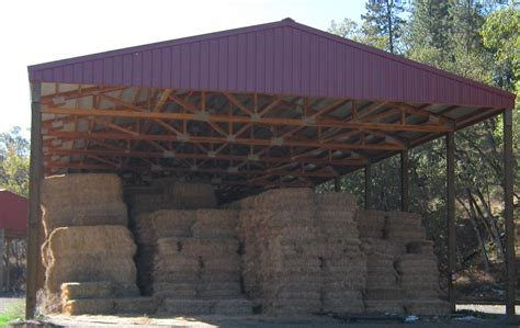 Hay Shed Cost by Pole Barn Construction Southern Oregon