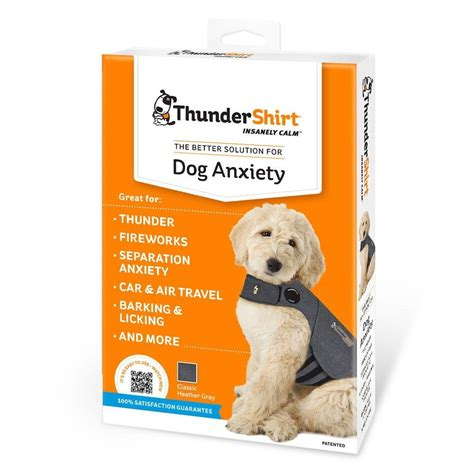 thunder shirts for dogs thundershirt anxiety treatment gray medium thundershirt for
